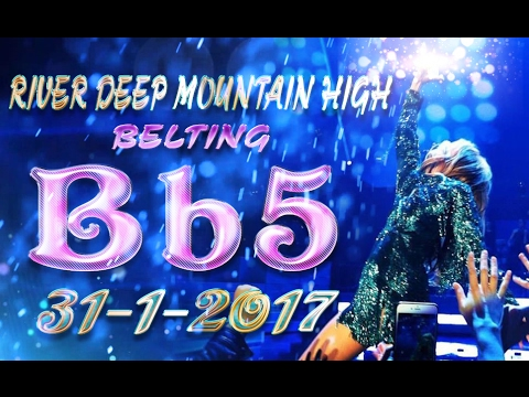 Céline Dion - Belting Bb5 in River Deep Mountain High (January 31, 2017, Las Vegas)