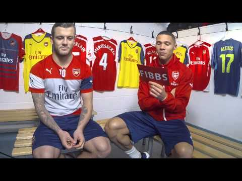 Kieran Fibbs takes on Jack Wilshere