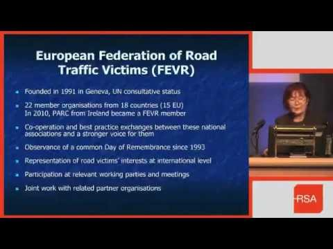 FEVR - Brigitte Chaudhry MBE (FEVR NGO Coordinator) at Road Safety Authority
