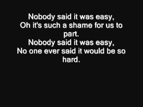Coldplay - The scientist (Lyrics)
