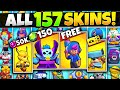 Unlocking ALL 157 Skins In Brawl Stars Costs ____?!?! Every Skin EVER Gameplay! v2