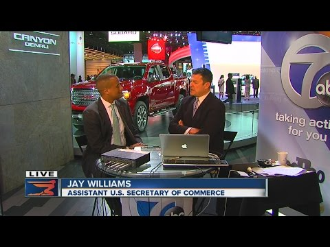 Jay Williams, Assistant Secretary of Commerce for Economic Development at the 2016 Detroit Auto Show