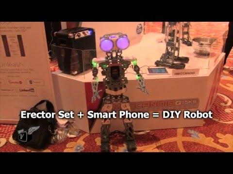 Erector Set + Smart Phone = DIY Robot