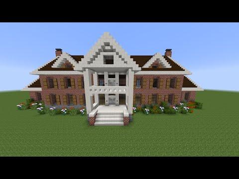 Como Hacer Mansion Clasica De Ladrillo en Minecraft (PT1)