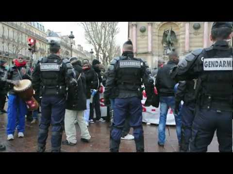 Paris, France, African Migrants Without Papers Demonstrating 2013.mov