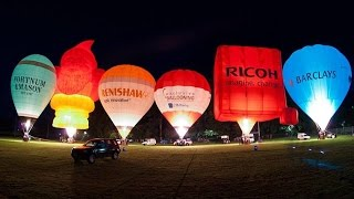 Exclusive Ballooning's Hot Air Balloon Night Glow - Tavistock 2015.