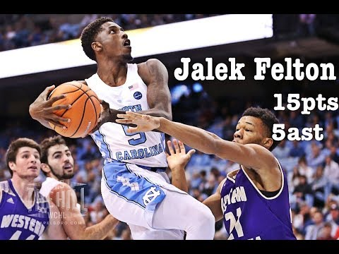 Jalek Felton North Carolina vs Western Carolina/12.6.17/Highlights/15pts 5ast