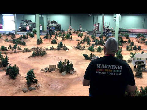 Remote Control Tank Battle Starts