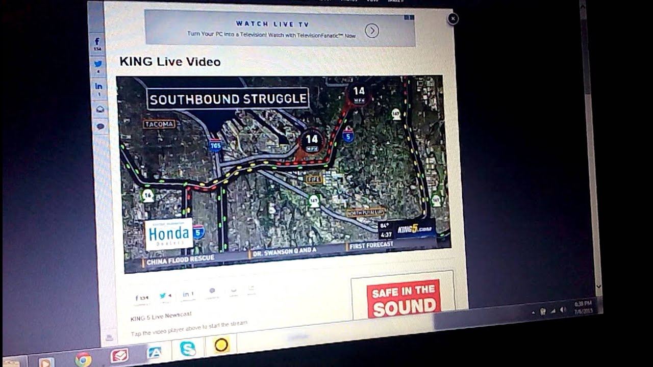 King 5 Traffic Map.Jim Forman With King 5 Seattle Pm Traffic 7 6 2015 Youtube