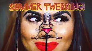 SUMMER TWERKING! TWERK! BOOTY SHAKE/ NOSE TWERK/ MAKEUP ART TUTORIAL / MAYBELLINE / PEENO YUSUF