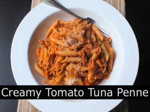 Creamy Tomato Tuna Pasta - Easy Tuna Penne Pasta Recipe : Foodwishes
