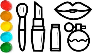 How To Draw A Makeup Kit Coloring Pages For Kids Easy Makeup Kit Drawing Book For Kids Youtube