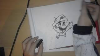 Drawing Raccoon Mario from Super Mario Bros 3