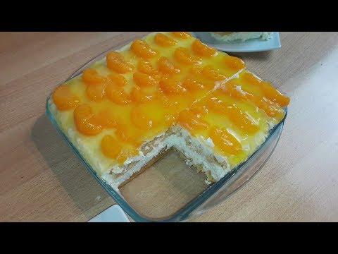 NO BAKE / Mandarinen Schmand Torte mit Kokos / ohne Backen / in 10 Minuten gemacht