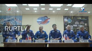 LIVE  Expedition 52 53 holds pre flight press conference in Baikonur