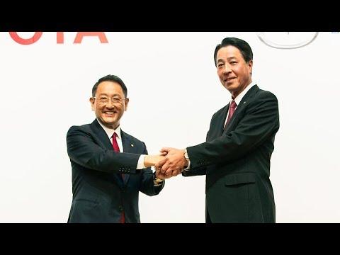 マツダとトヨタ、業務資本提携に関する共同記者発表会/Joint press conference on Mazda and Toyota's business and capital alliance
