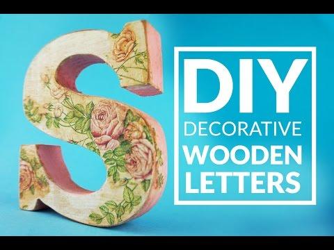 DIY wooden decorative beauty LETTERs