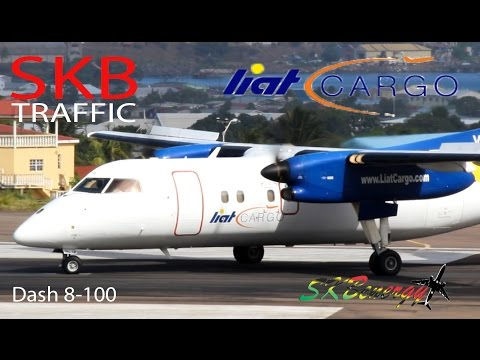 LIAT Cargo Dash 8-100 in action @ St. Kitts and Antigua (Team Caribbean)
