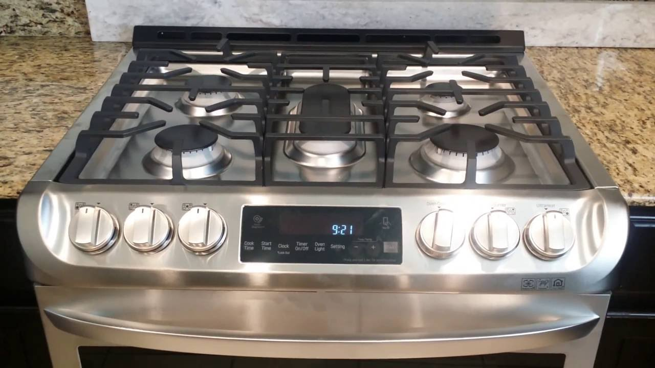 lg electronics gas slidein range with probake convection youtube