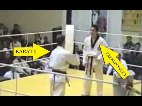 Taekwondo VS Karate - Knockout 2014 - YouTube