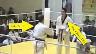 Taekwondo VS Karate - Knockout 2014