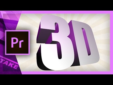 Create a 3D extruded text in Premiere Pro | Cinecom.net