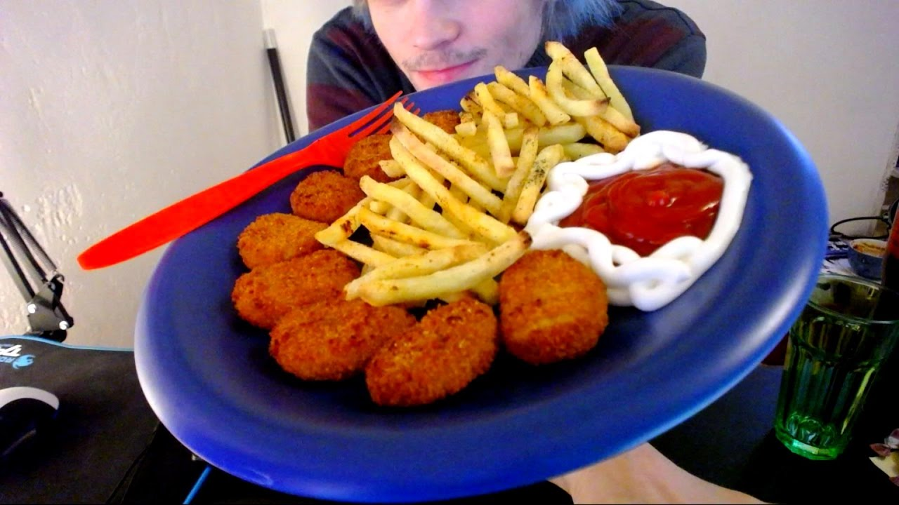 Asmr Crispy Chicken Nuggets With Fries Relaxing Eating Sounds No Talking Vegan