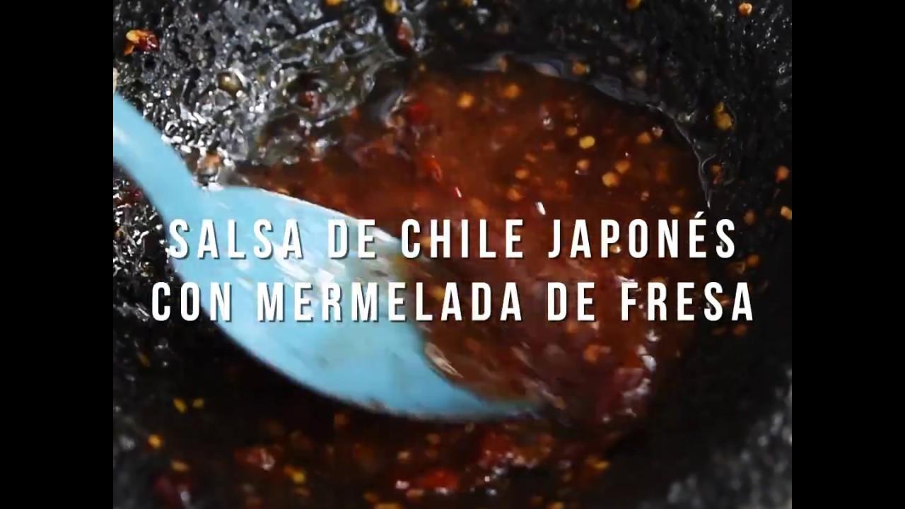 Salsa De Chile Japones Con Mermelada De Fresa Smp Youtube