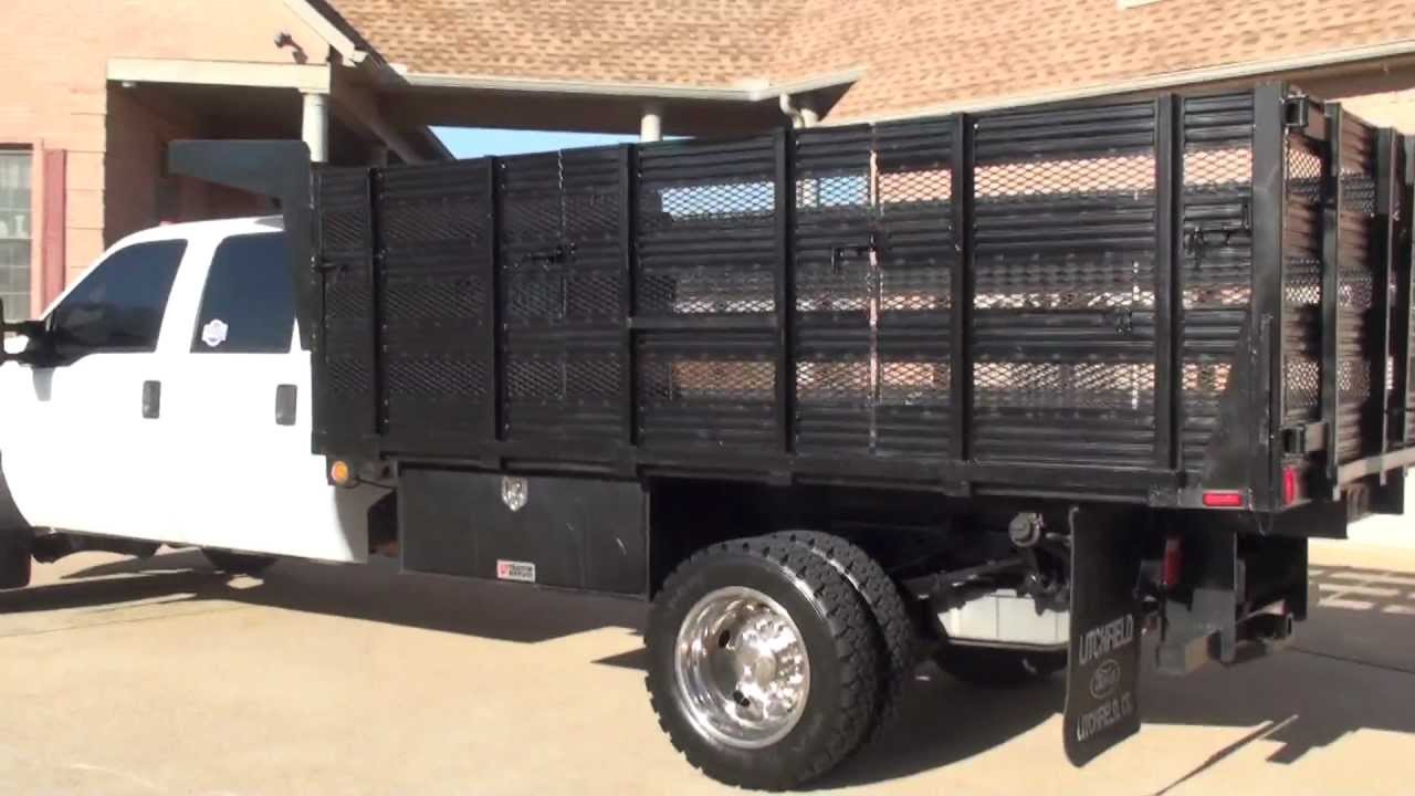 F550 For Sale >> HD VIDEO 2008 FORD F550 XL CREW CAB 6 4L DIESEL XL LANDSCAPE TRUCK FOR SALE SEE WWW SUNSETMILAN ...