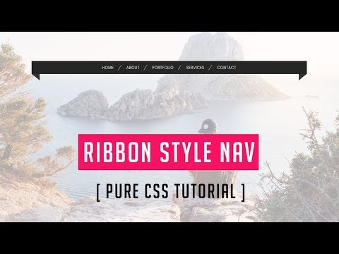 How to make to ribbon style nav with html and css | html css navigation bar tutorial thumbnail