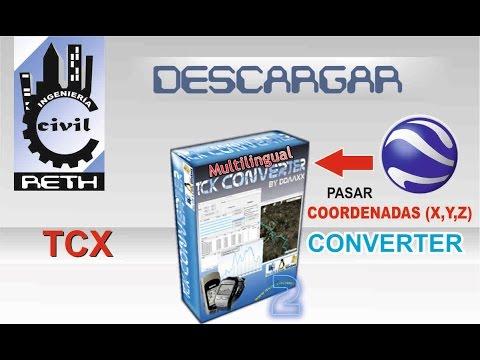 DESCARGAR TCX CONVERTER  PARA GENERAR ELEVACIÓN O COTA DE COORDENADAS