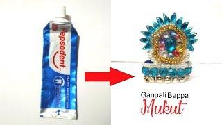 Handmade Ganpati bappa Mukut toothpaste-Ganesh Chaturthi special Mukut-  Mukut DIY-Tuber Tip