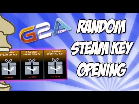 G2A com 10 Random STEAM CD-KEY Opening!