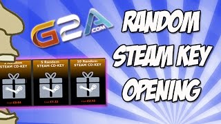 G2A.com 10 Random STEAM CD-KEY Opening!(Jump over to G2A to grab your 10 random keys: https://www.g2a.com/r/thegamesshed-10keys We've all seen random Steam CD-Key offers all over the internet, ..., 2015-06-26T09:08:53.000Z)