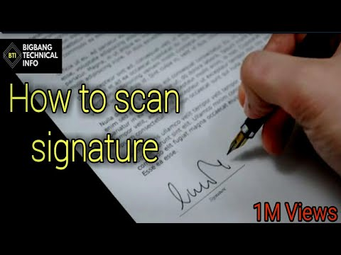 How To Digitalize Signature | How  To Copy Anyone's Signature From Any Documents | 2019