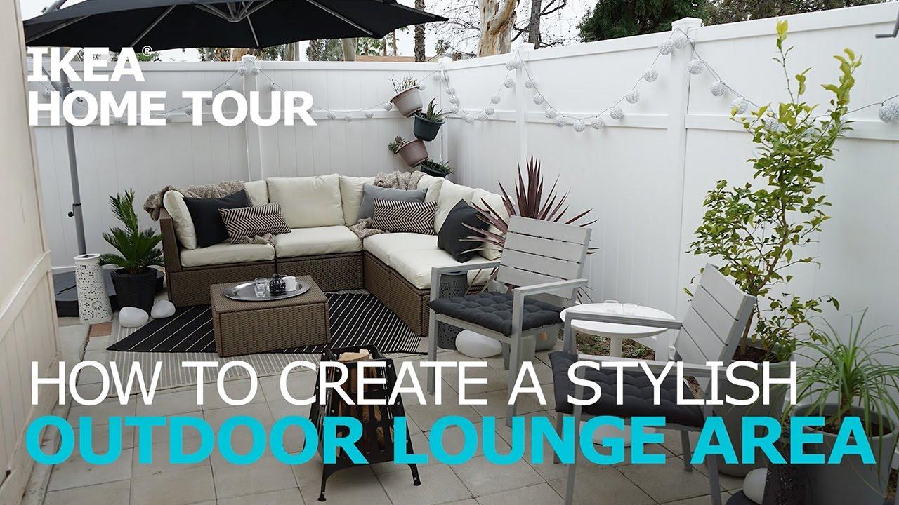 Outdoor Lounge Ideas - IKEA Home Tour - YouTube on Backyard Lounge Area Ideas id=50253