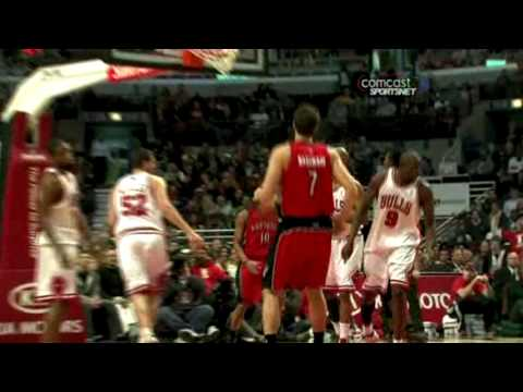 DeMar Derozan Posterizes Brad Miller Vs Bulls (12.5.09)
