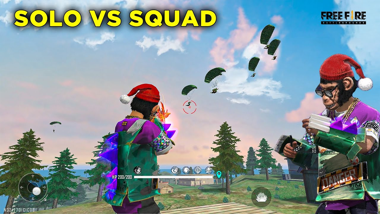 Only HeadShot Solo Vs Squad Bhari Gameplay Must Watch - Garena Free Fire- Total Gaming