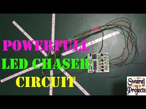 Led Chaser Circuit | Powerful 6 channel led chaser | How to make led chaser