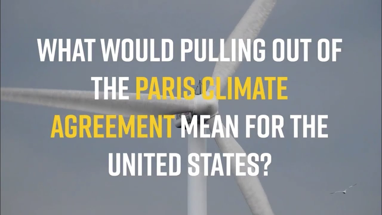 What would pulling out of the #ParisAgreement mean for the United States?