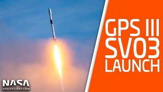 SpaceX Launches GPS III Spacecraft From Cape Canaveral