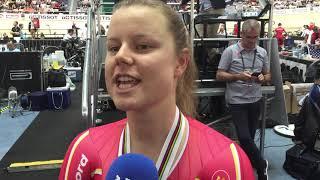 Amalie Dideriksen efter VM-bronzemedaljen 2019