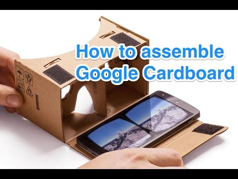 How to assemble I AM CARDBOARD® 45mm Focal Length Virtual Reality Google Cardboard