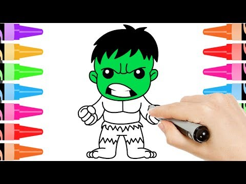 How to Draw Baby Hulk | Kids Learn Drawing | Art Colors ...