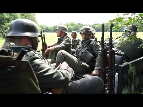 WW2 German Army KFZ 69 Horch Ride