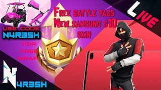Fortnite #118 Tamil Gaming - New challenges || BATTLE PASS for FREE! || New samsung skin ||