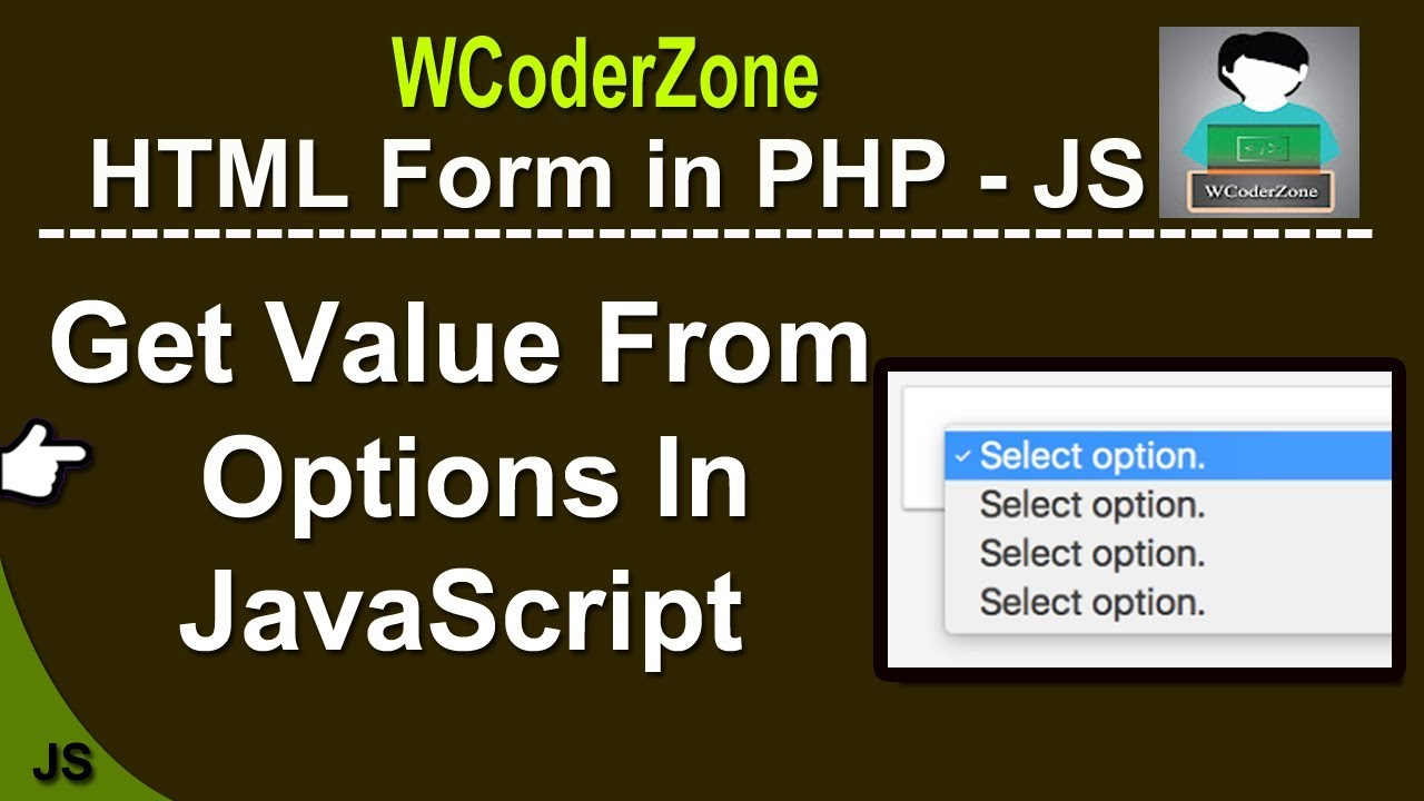 How to get value from select option in JavaScript - English Tutorial