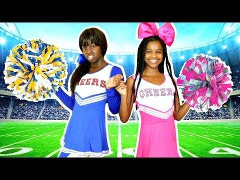 CHEERLEADING CHALLENGE!!! - Shasha and Shiloh - Onyx Kids