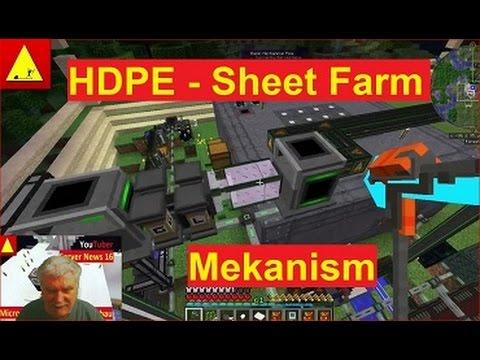 HDPE Sheet aus Ethylene etwas spezielle Maschinen helfen Minecraft Mekanism Tutorial
