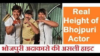Real Height of 10 Bhojpuri Actor - भोजपुरी अदाकारो की असली हाइट